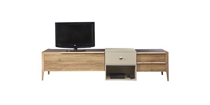 SIENTO Meuble TV STAND Bas (240 cm)